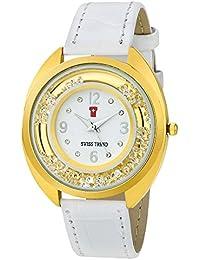 Swiss Trend Crystal Studded Glamour Stunning Analogue Women's Watch - OLST2255
