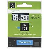 DYMO D1-Beschriftungsband 45013, 12 mm, schwarz/weiß