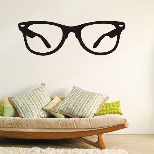 Vinyl Glasses Wall Decal Wayfarer Glasses Quote Hipster Frame Glasses Decor Framed Glasses Wall Sticker Home Art Decoration Black by DigTour WallArt