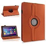 NAUC Schutzhülle für Ihr CSL Panther Tab 10 Hülle Tasche Carbon Cover Tablet Case, Farben:Bronze