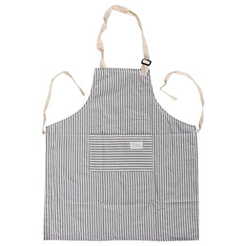 CADANIA Grembiule da Cucina Cucina Ristorante Chef Bavaglino Regolabile con  Taschino Uomo Donna - Grigio e895f9e4590f