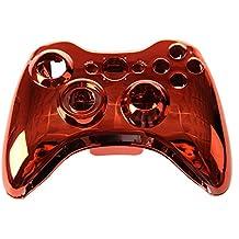 SODIAL(R) Carcasa Cromado Mando Botones Rojo Herramientas para Xbox 360