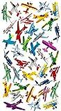 Purple Peach divertido, Social Y Educativo adhesivo hojas (12unidades) de aviones para padres y maestros 251