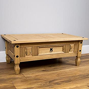 Home Discount Corona Coffee Table With Drawer Amazoncouk