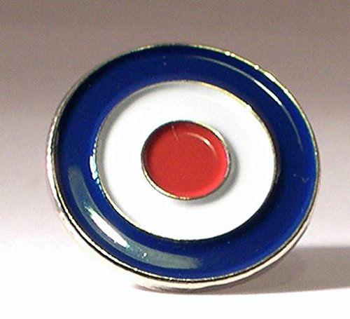 Metal Enamel Pin Badge Scooter Vespa Lambretta RAF MOD Target Bullseye by Mainly Metal