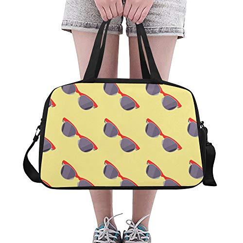 Coole Mode Sonnenbrillen große Yoga Gym Totes Fitness Handtaschen Reise Seesäcke Schultergurt Schuhbeutel für Übung Sport Gepäck für Mädchen Männer Womens Outdoor