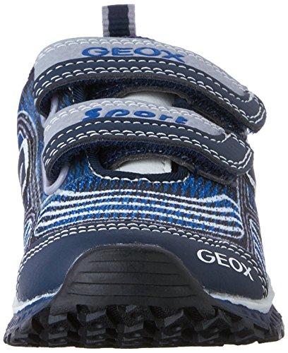 Geox J Bernie B, Baskets Basses Garçon Bleu (C4226)