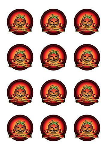 ween Tortenaufleger Amerikaner Kürbis HW02 (Cupcakes Halloween Kürbis Kind)