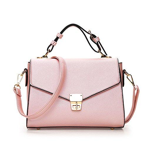 auen Tasche Mode Dame Schräg Gegenüber Dem Kleinen Quadrat Sweet Lady Single Schulter Großhandel Hersteller Rosa ()