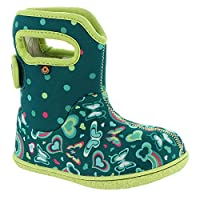 BOGS Baby Wellingtons Printed Waterproof Kids Boots UK 3-9 (UK 6, Turquoise Multi)