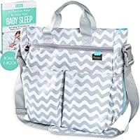 LIMITED OFFER - BEST Baby Changing Bag by Liname - Superior Quality Material - Complete Nappy & Accessories Bag for your Precious Little One with 13 Roomy Pockets - Includes a BONUS Nappy Changing Pad & eBook