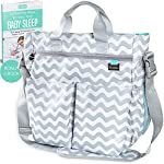 Baby Changing Bag by Liname® - Superior Quality Material - Complete Nappy & Accessories Bag with 13 Roomy Pockets - Includes a Bonus Nappy Changing Pad & eBook