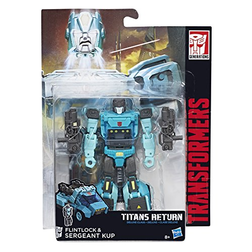 Transformers C1091EL2 Generations Titans Return Deluxe Sergeant Kup and Flintlock
