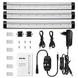 Albrillo 3er Pack 12W LED Unterbauleuchte - 900LM Stufenlos Dimmbar Küchenlampe, inkl. Adapter und Montage-Zubehör, warmweiß