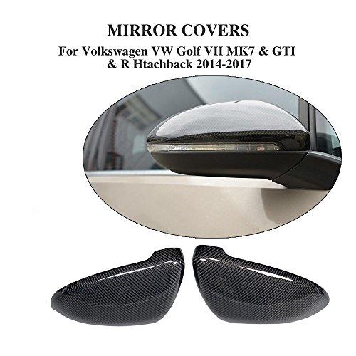 Direkter Ersatz Carbon Fasern Spiegel Cover für Golf VII GTI MK7GTI R Schrägheck 2014-2017