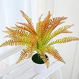 Justoyou 4pezzi artificiali piante felce falso spina erba piante Grenery per indoor outdoor home wedding Table tomba decorazione Style 1