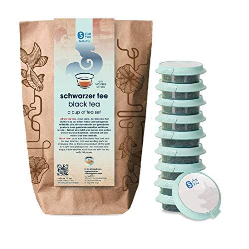 Shuyao Schwarzer Tee Set\n 15x loser Tee für deine Teetasse nach dem Yoga (45g)