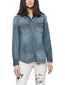 Only Women's Stone Women's Blue Denim Shirt 100% Cotton