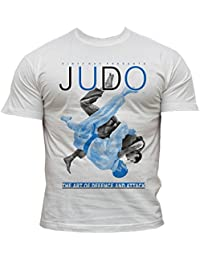 Dirty Ray Artes Marciales Judo Camiseta Hombre K20C Flelgk
