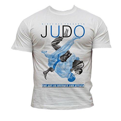 YORYU Mizuno Camiseta Judo Hombre Team Tee M/C Blanco, Medium