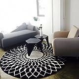 QZz-Tapis-de-bain-lgant-en-noir-et-blanc-rond-salon-table-basse-grand-tapis-taille-120cm