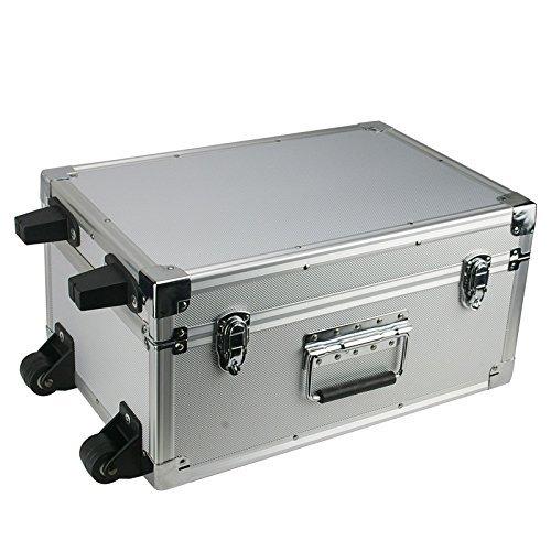 Cases and Enclosures - Valigetta degli attrezzi in alluminio con trolley 44 x 30 x 22 mm