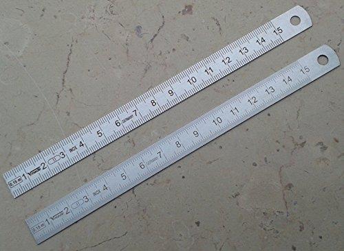 Edelstahl Lineal 150x 13x 0,5mm Teilung auf beiden Seiten