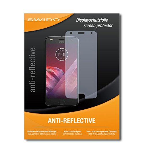 SWIDO Displayschutz für Motorola Moto Z2 Play [4 Stück] Anti-Reflex MATT Entspiegelnd, Hoher Härtegrad, Schutz vor Kratzer/Glasfolie, Schutzfolie, Displayschutzfolie, Panzerglas Folie