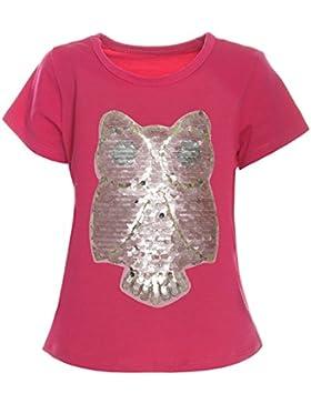BEZLIT - Camisa deportiva - Blusa - Estrellas - Cuello redondo - Manga corta - para niña rosa 12 Años / 152 cm