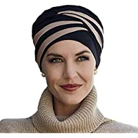Christine Headwear Bonnet en Bambou Shanti Noir et Bleu pour Traitement de  Chimiothérapie 5f6e43a2cf1
