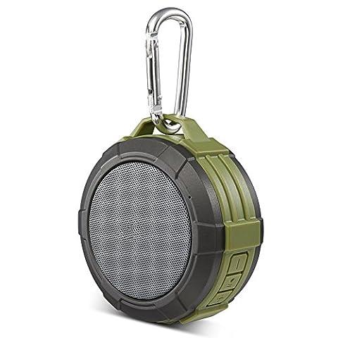 Portable Mini Speaker, SEGURO Douche Enceinte Bluetooth Sans fil IPX5 Waterproof et Antichoc Haut-Parleur, Mains Libres, Microphone, Rechargeable Portable Mini Speaker Pour iPhone, Android et PC