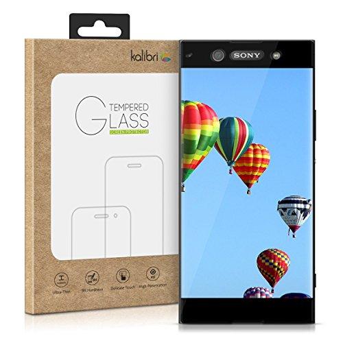 kalibri-Echtglas-Displayschutz-fr-Sony-Xperia-XA1-3D-Schutzglas-Full-Cover-Screen-Protector-mit-Rahmen-Glas-Folie-auch-fr-gewlbtes-Display-in-Schwarz