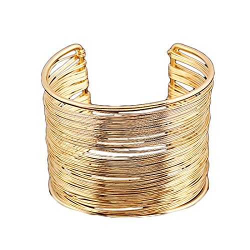 WOW, Party Queen! 1 Stück super cooler Damen Metal Armreif, luxuriöser Armband aus gold Metal Drähte, super einzigartiges, Vintage Accessoires, Teil Nr.AK5