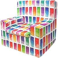Jarrous Sillón Infantil de Espuma Modelo Happy, Estampado Colors, Medida 44x46x35cm