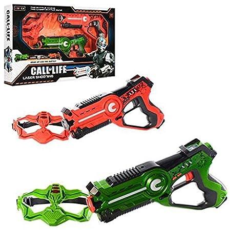 Call of Life WINYEA Laser Tag Set Battle Laser Toy Guns Green and Orange + Masks
