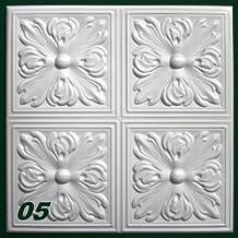 10 m2 Pannelli per soffitto Pannelli di polistirolo Stucco Copertura Decorazione pannelli 50x50cm, Nr.05
