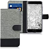 kwmobile Wallet Case for Blackview P6000 - Fabric and PU