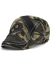 Roffatide Hombres Camuflaje Plano Gorra Sombrero de Boina Verano Al Aire  Libre Gorra de Deport 1537b3d3718
