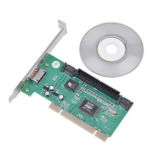 PCI zu SATA + IDE-Karte 2 Interne SATA-Schnittstelle & 1 eSATA & 1 IDE-Schnittstelle Kompatibel mit Serial ATA 1.0 Unterstützung für 66 MHz PCI, 32-Bit-Daten - Esata Erweiterungskarte