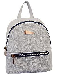 Jiacheng29 Women's Fashion Pu Leather Mini Backpack Travel Handbag School Rucksack Shoulder Bag for Girls Lady