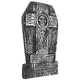 NEU Deko Grabstein Skull Cross RIP, 50x27 cm