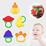niceEshop(TM) 5 Pack Baby Fruit Teether,Soft Silcone BPA Free Baby Teething Toy