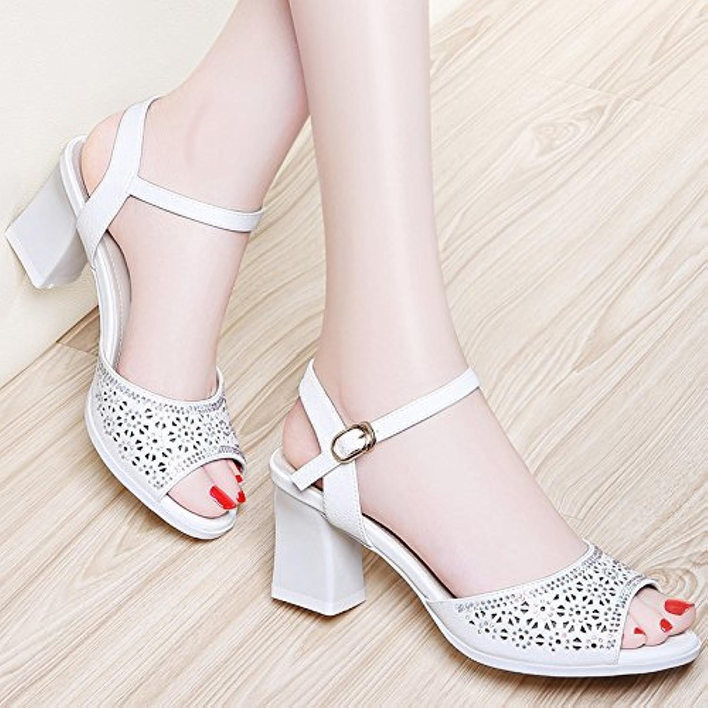 MEI&S Donne sandali Bocca di pesce di una parola della sicurezza fibbia della cintura di sicurezza della scarpe tacchi  Parent d04c04