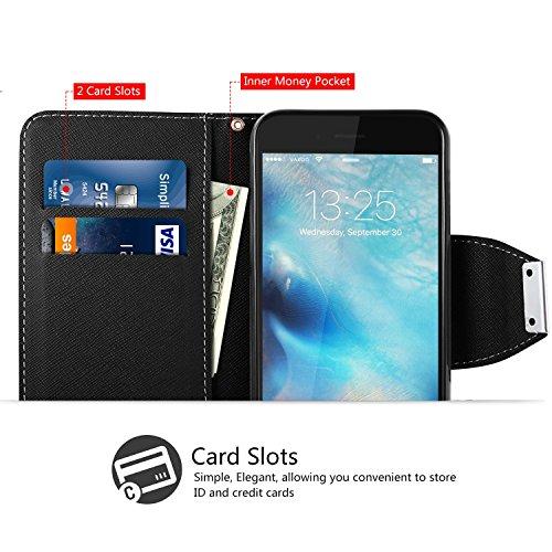custodia iphone 6 portafoglio nero