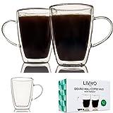 Fineway @ doppelwandige Thermo-Glas Espresso Tee Kaffee Cappuccino Tasse, 2 X 300ML