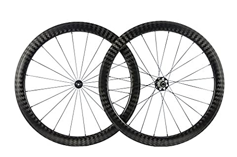 WINDBREAK BIKE 50mm Clincher Wheelset 12K Twill Finish 25mm U-Shape Wheel with R51 Hub