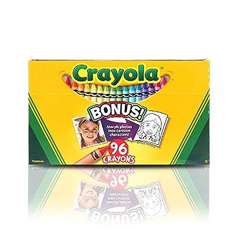 Crayola; Crayons; Art Tools; 96 ct.; Durable, Long-Lasting Colors, Built-in Sharpener