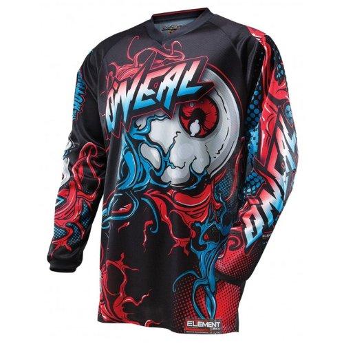 O'Neal Element MX Jersey Rot Blau MUTANT Enduro Motocross Motorrad Shirt MTB DH, 0016M-40, Größe XX-Large