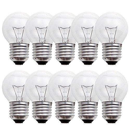 10 x Glühbirne Tropfen 40W E27 klar Glühlampe 40 Watt Glühbirnen Glühlampen warmweiß dimmbar - Glühlampe Kugel Birnen