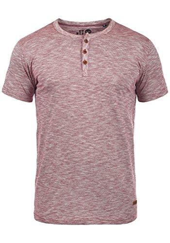 Henley-shirt (!Solid Sigos Herren T-Shirt Kurzarm Shirt Mit Grandad-Ausschnitt Aus 100% Baumwolle, Größe:M, Farbe:Wine Red (0985))
